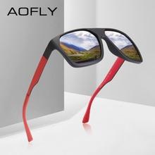 Aofly Brand Design Gepolariseerde Zonnebril Mannen Klassieke Zonnebril Mannen Driving Shades Mannelijke Unieke Tempel Oculos De Sol AF8113