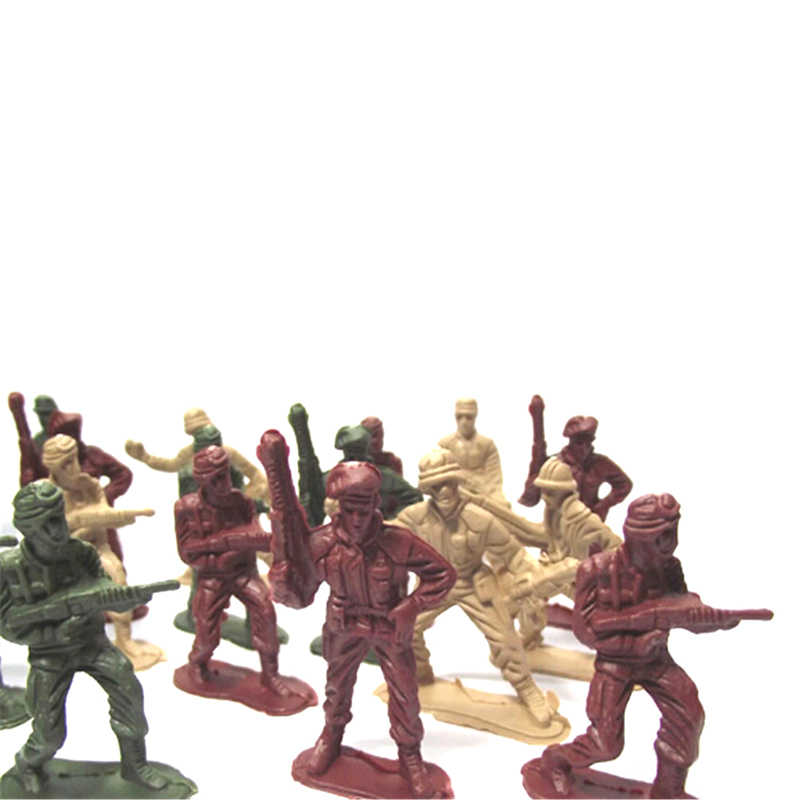 Ww2 Christmas Gifts.50pcs 5cm Plastic Soldier Model World War Ii Soldier Military Toys Best Birthday Christmas Gifts For Boys Toys For Children