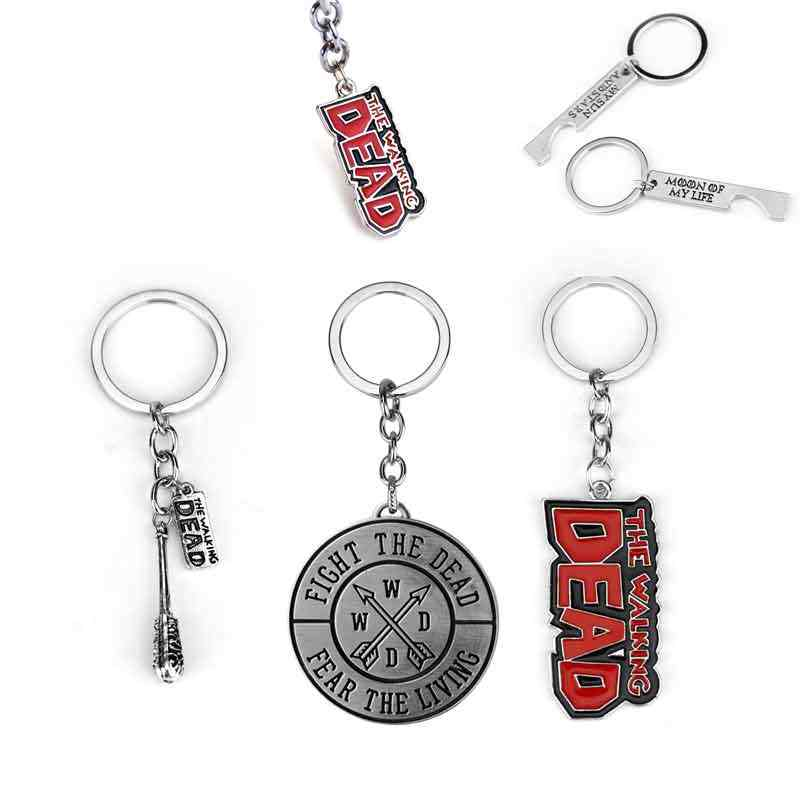 The Walking Dead Key Chains Fear The Living Fight The Dead Daryl Crossbow Keychain Rings For Fans Souvenirs High Quality Gift