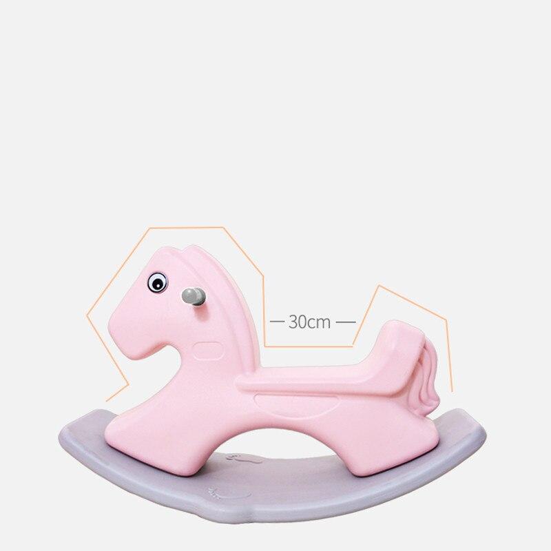 Parc d'attractions intérieur famille accessoires parc de sécurité pour nourrissons épaississement grand cheval à bascule musique en plastique bébé jouet de troie - 4