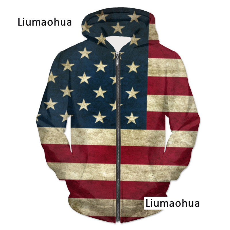 YX-GIRL-Brand-Men-Women-USA-Flag-3D-Zip-Hoodies-Pullovers-Cool-Print-Hooded-Sweatshirt-Hip