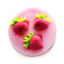 Free shipping strawberry Silicone mold silicon cake mould Fondant Decorating Tools kitchen accessories