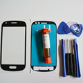 Front Outer Glass Lens Display Panel for Samsung Galaxy S3 mini i8190 Replacement Part & LOCA glue & Tools Kit & adhesive