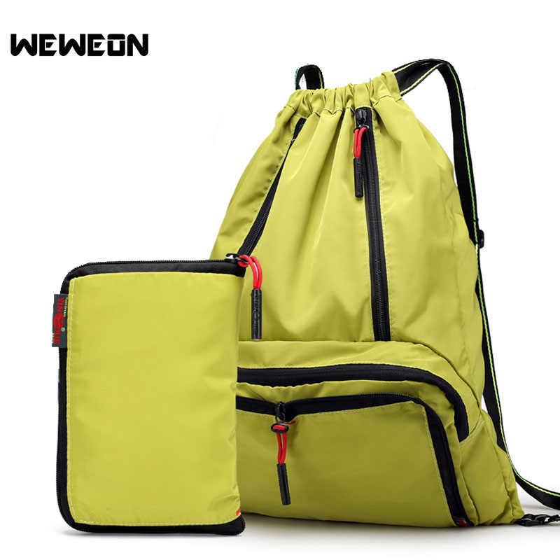 Легкий нейлоновый рюкзак, складной Водонепроницаемый шнурок рюкзак складной Пеший Туризм рюкзак Сверхлегкий Открытый Спортивная Сумка