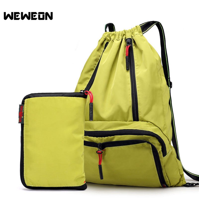 Lightweight Nylon Foldable Backpack Waterproof Drawstring Backpack Folding Hiking Camping Backpack Ultralight Outdoor Sports Bag