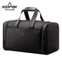 Купить с кэшбэком BOPAI 2019 New Arrival Big Size Travel Duffle Bags Men Large Tote Men Travel Bags Black Water Repellent Duffel Bag With Foot Mat