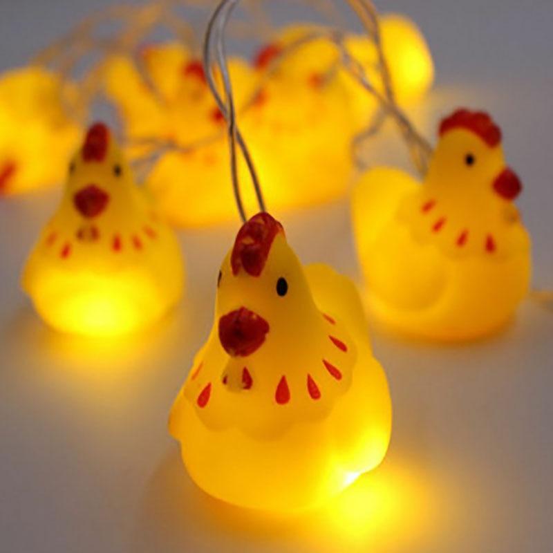 Christmas LED Pet Hen String Light Battery Operated Fairy Lights 10 LED Fantastic Lights for Bedroom Baby Room Decoration