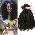 Bling Hair Brazilian Kinky Curly Hair 4 Bundles Grade 7A Virgin Brazilian Jerry Curl Hair Weave Tissage Kinky Curly Weaving Hair