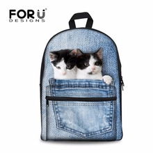 New 2017 Kawaii Animal Cat Backpack for Girls Fashion Children School Bag Cute Dog Backpack Cat