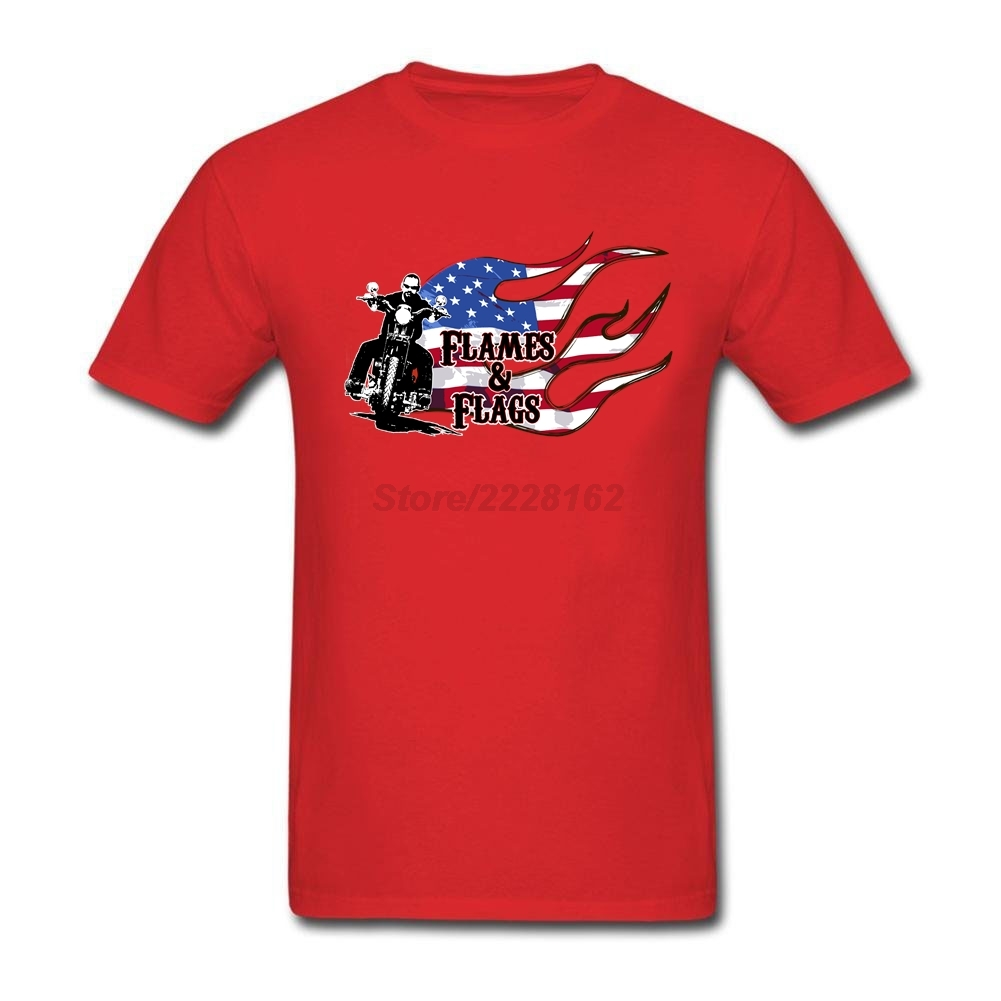 Design t shirt online usa - Usa Flag And Motor Design T Shirt Men Heather Plus Size Graith Original Flames Flags Custom