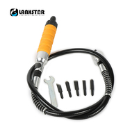 LANXSTAR Electric Chisel Head And Flexible Shaft For Furniture Woodworking Engraving Root Carved Grinding Crane Handle