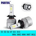 Partol H1 H4 H7 H11 H13 9004 9005 9006 LED Car Headlight Bulb Hi-Lo Beam COB Led Headlights 72W 8000LM 6500K Auto Led Headlamp