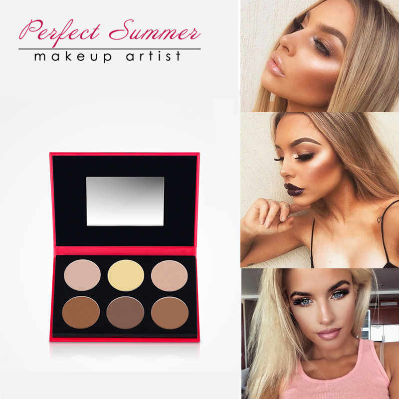 Perfect Summer Colors Highlighter And Bronzer Contour Palette Professional Makeup Bronzer Palette Face Makeup Sculpting Comestic 目