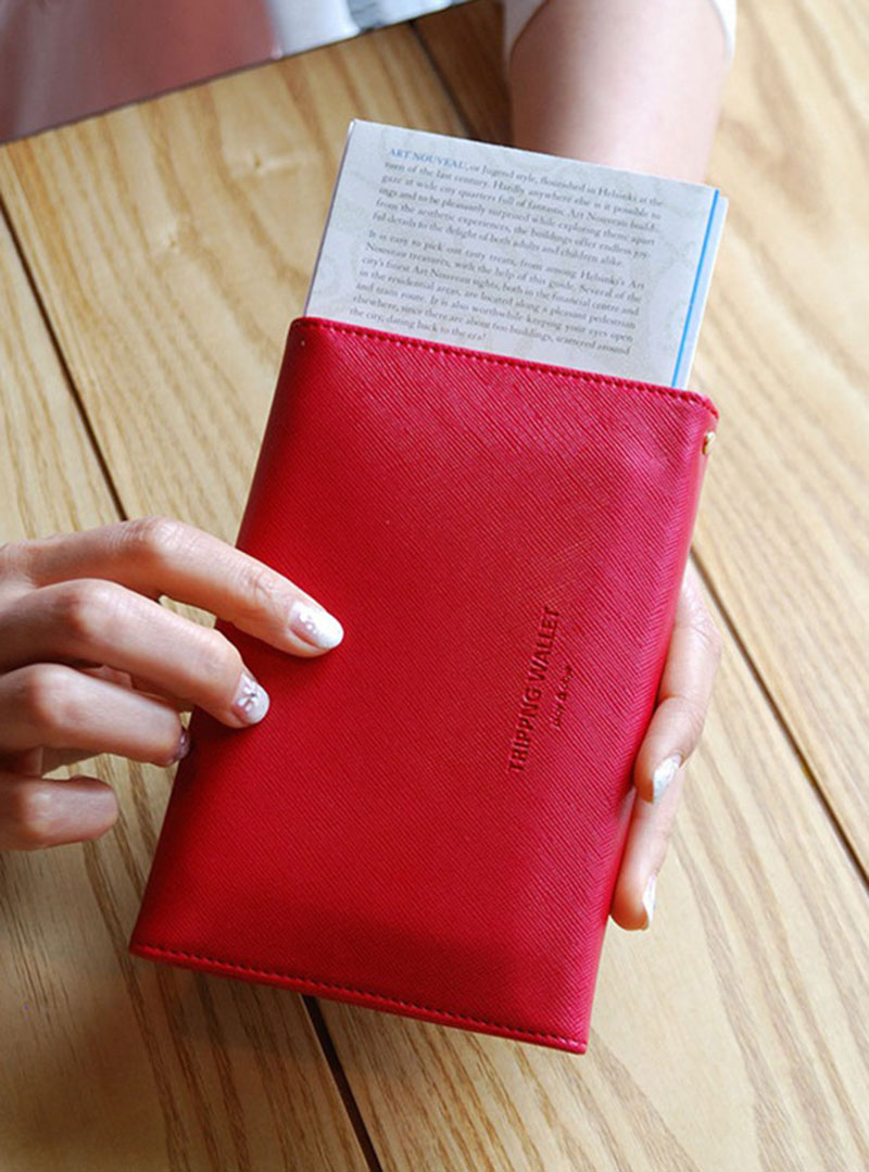 Travel Passport Cover Foldable Credit Card Holder Money Wallet ID Multifunction Documents Flight Bit License Purse Bag PC0045 (11)
