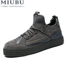 MIUBU Men Shoes 2019 Spring Autumn Fashion Sneakers Breathable Casual Shoes Lace Up High Quality Sneakers Men Mesh Shoes 2018 autumn new man breathable sneakers high quality leather luxury men sneakers streetwear casual men lace up sneakers footwear