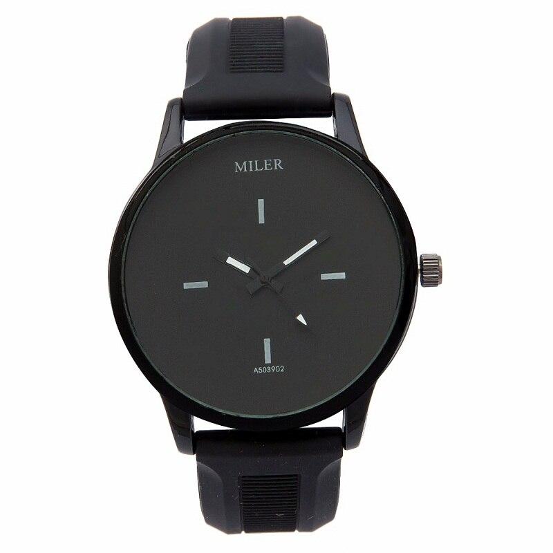 HOT Black and White MILER Ladies Watches Women Quartz Simple Popular Korea Style Silicone Wrist Watch