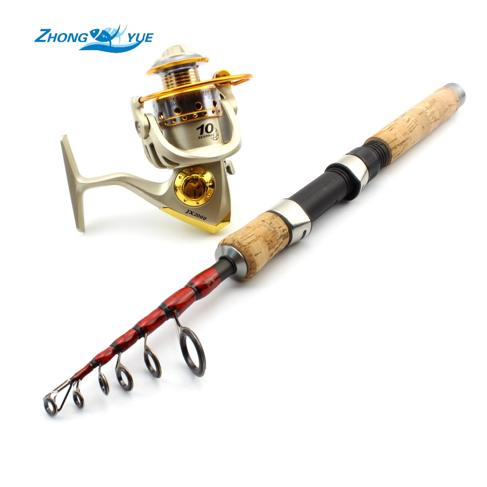New High Quality 2.1m 2.4m 2.7m Fishing Rod Set and Metal Spoon Reel Lure Spinning Fishing Reel Set Kit Fishing Tackle