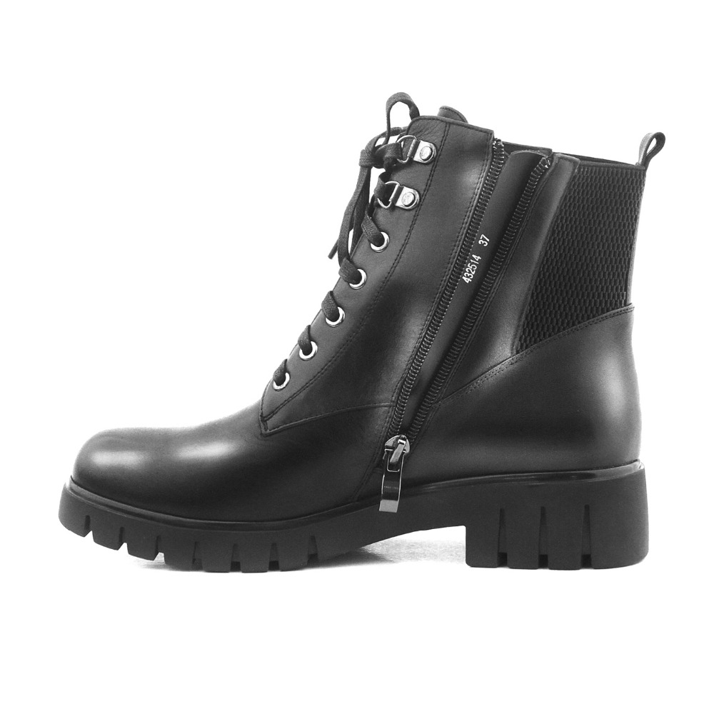 À Noir Femmes B29 Moto Véritable Chaussures Courtes Bottes En Qualité Éclair Main Vache Cheville Lidian Cuir Avec La Hiver Peluche Haute Fermeture O10qW