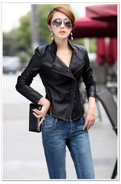 9db3ffd9fa989 2015 chaqueta de cuero prendas de vestir exteriores PU ropa de la  motocicleta chaqueta de cuero