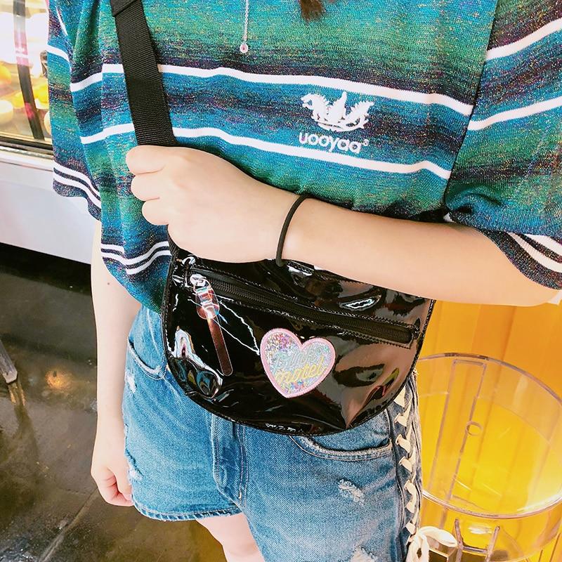 Korean Fashion Women Waist Chest Bag Travel Wallet Fanny Pack Pouch Mobile Phone Money Belly Crossbody Shoulder Bag For Girls