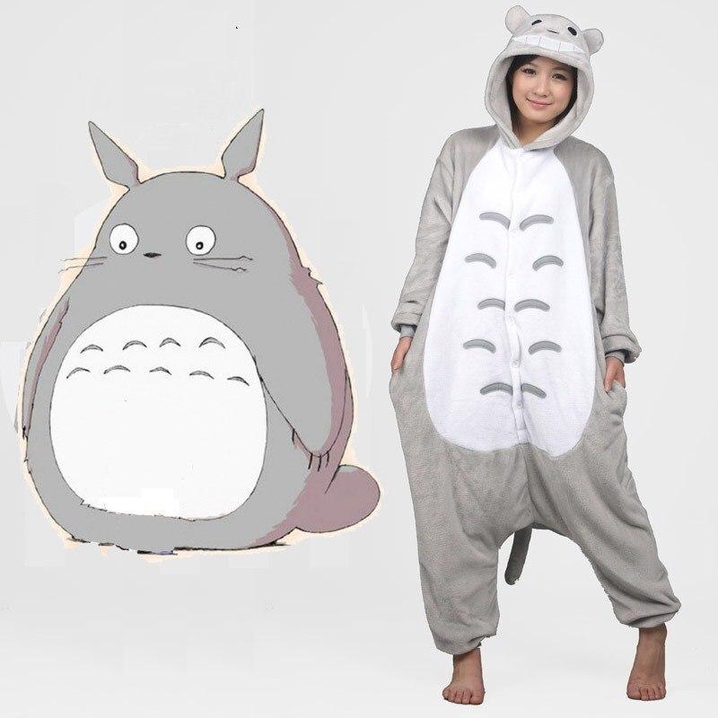 Kigurumi Femmes Arc-En-Unicornio Pijama Panda Flanelle Totoro Pyjamas Pyjamas Adulte Costumes de Nuit Pyjama Licorne Pyama Femme