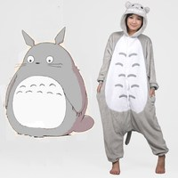 Pijama Full Flannel Totoro Pajamas Pyjamas For Womens Adult Costumes SleepWear Home For Clothing Plus Size
