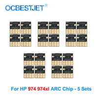 5 Sets 974XL ARC Chip For HP 974XL Ink Cartridge Chip For HP PageWide 352dw 377dw 452dn 452dw 477dn 477dw 552dw Permanent Chip