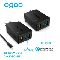 CRDC Quick Charge 3 0 USB Wall Charger 42W Smart Fast Mobile Charger For Xiaomi Samsung
