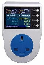 New US15A power meter / home metering socket/ watt meter/2.4 inch TFT color LCD/0.5FS/0.1~3750w