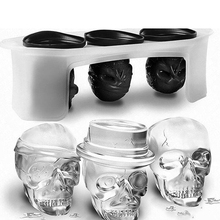 Skull ice molds Ice Cube Molds Silicone homemade  ice popsicle molds whiskey cocktail ice ball maker