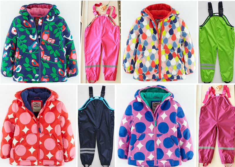 ФОТО Child winter windproof rainproof high quality children's clothing child set thickening outdoor jacket ski suit Girl suit