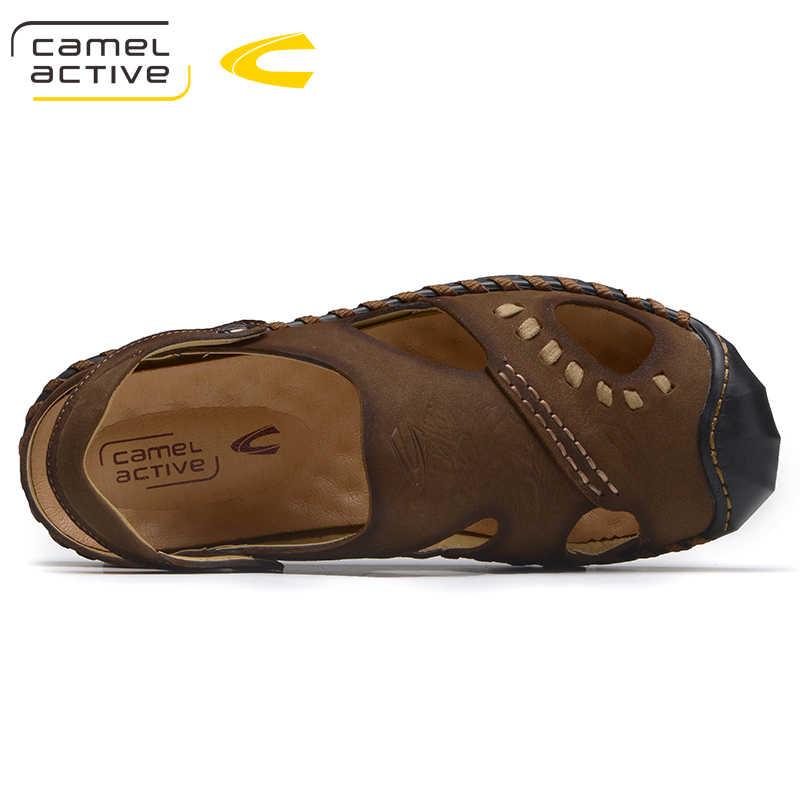الإبل النشطة وصل جديد الرجال الصنادل أزياء الصيف الصنادل الرجال الأحذية جودة مريحة تصميم عارضة الرجال الصنادل الأحذية