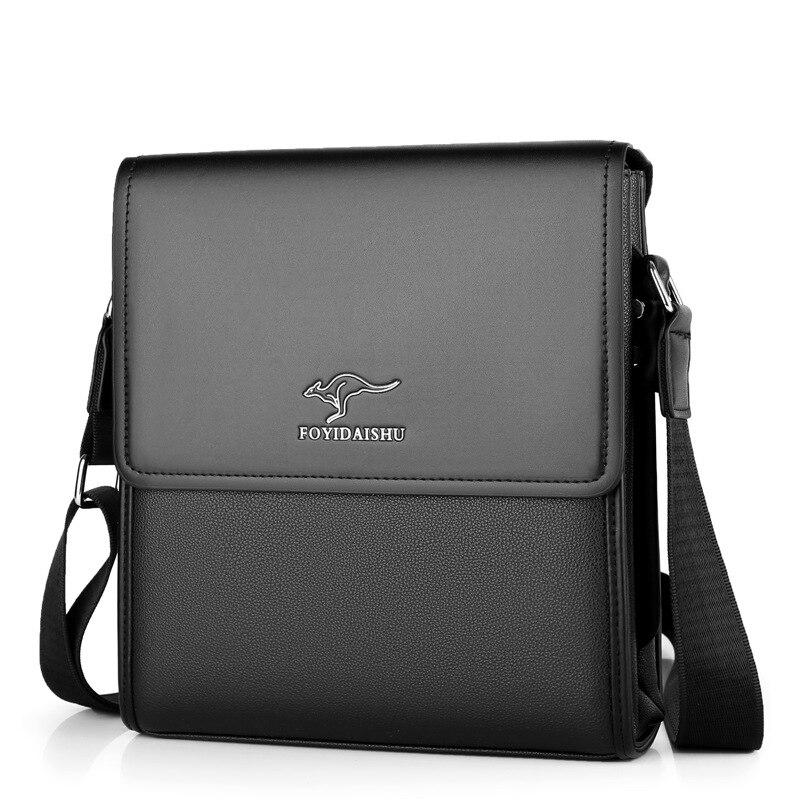 Brand Kangaroo Business Men Messenger Bag Vintage Leather Crossbody Shoulder Bag For Male Brand Casual Man Handbags Fashion Bags