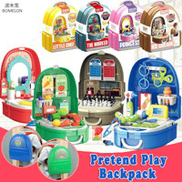 Kids Kitchen Toy Doctor/Dresser/Chess/Ice Cream Role playing Games Pretend Play Backpack Children Toys for girls Boys 3 Years