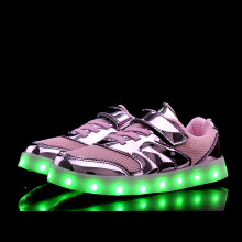 Children LED Shoes for Boys Girls USB Charger School  Kids Chaussure Enfant Luminous Glowing Sneaker with Light Sole Size 26-37 glowing luminous sneakers feminino baskets with light sole usb charger children led slippers for boy
