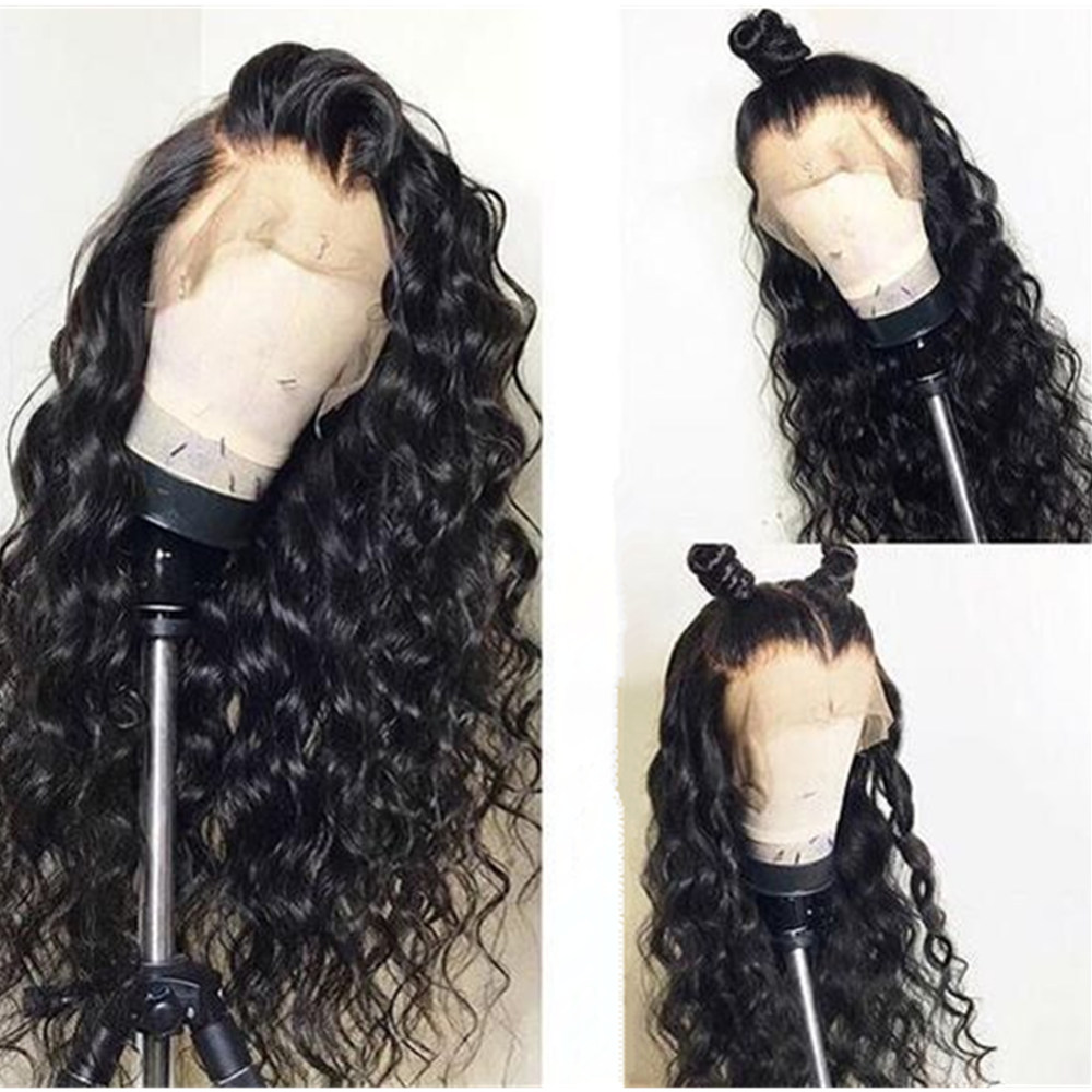 Curly Human Hair Wig Pre Plucked With Baby Hair Peruvian Remy Lace Front Human Hair Wig