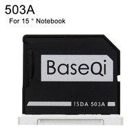 Novo Adaptador Notebook De Alumínio cartão de Memória TF MicroSD Minidrive Leitor De Metal Para Macbook Pro Retina 15 ''(Meados de 2012 /início de 2013)