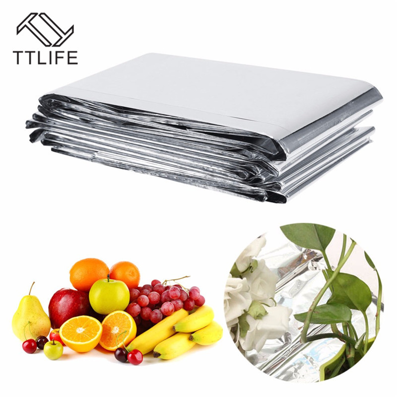 TTLIFE Silver Plant Hydroponic Highly Reflective Mylar Film Grow Light Accessories Greenhouse Reflectance Coating Plant Covers