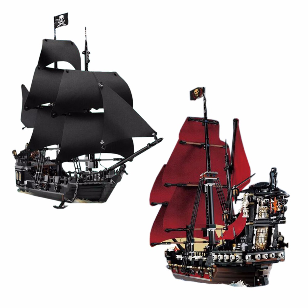 Lepin building bricks Pirates of the Caribbean The Black Pearl Pirate Ship Model set Building Blocks Kits Toys without box lepin 22001 pirates series the imperial war ship model building kits blocks bricks toys gifts for kids 1717pcs compatible 10210