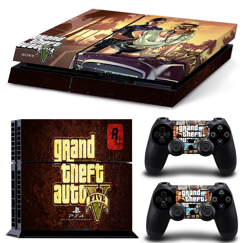 OSTSTICKER GTA 5 Vinyl Skin Sticker For PS4 Console For Sony Palystation4 Controller Decal