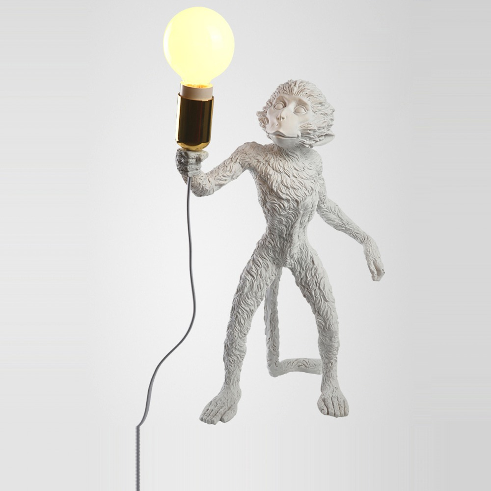 French monkey lamp - Led E27 Italy Resin Monkey Designer Led Lamp Led Light Table Light Table