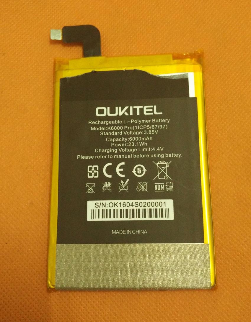 Used Original 6000mAh battery Batterie Batterij Bateria For Oukitel K6000 Pro MT6753 Octa Core 5.5 FHD 1920x1080