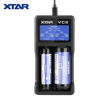 Chargeur XTAR VC2 pour charge de batterie 10440/16340/14500/14650/17670/18350/18490/18500/18650/18700/26650/22650/20700/21700