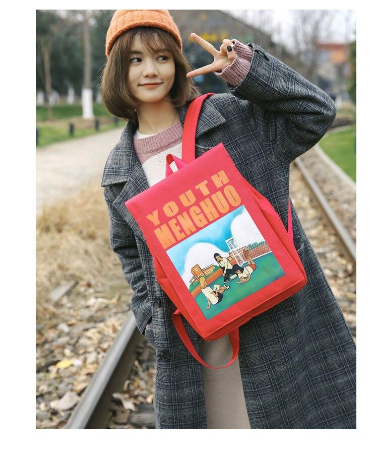 Menghuo Women Backpacks Animation Figure Printed Girls Students School Shoulder Bag for Teenage Girls Backpack Ladies Mochilas--_28-1_17