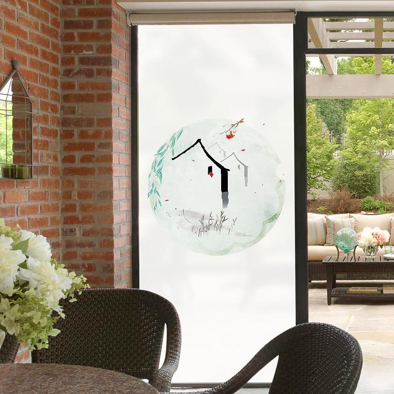 US $14.9 |Chinesische elektro milchglas folie badezimmer fenster aufkleber  balkon fenster opaque opaque schatten selbst adhesive-in Dekor-Folien aus  ...