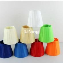 6 шт./лот, подвесной тканевый абажур, художественный подвесной светильник, абажур для гостиной, спальни, современные абажуры на зажиме
