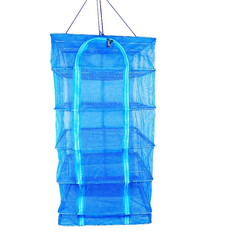 все цены на Foldable Drying Net Fish Net Drying Rack Hanging Vegetable Fish Dishes Dryer Net 40 x 40 x 68cm PE Hanger Fish Net X248 онлайн