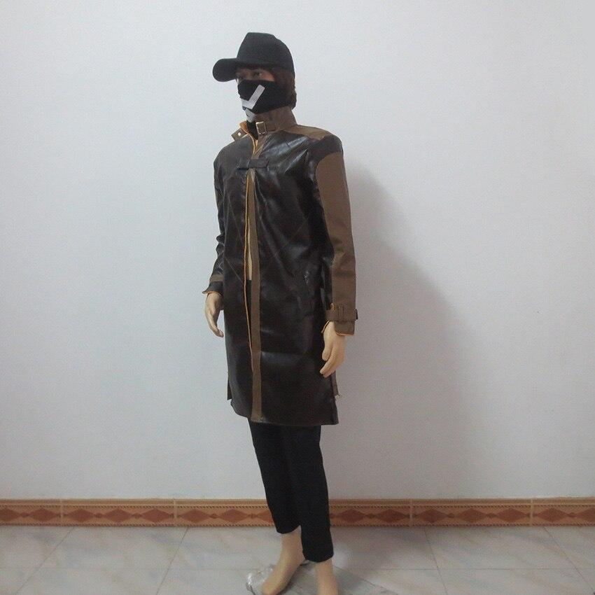 Watch Dogs Aiden Pearce косплей костюм пальто+ брюки+ шляпа+ маска