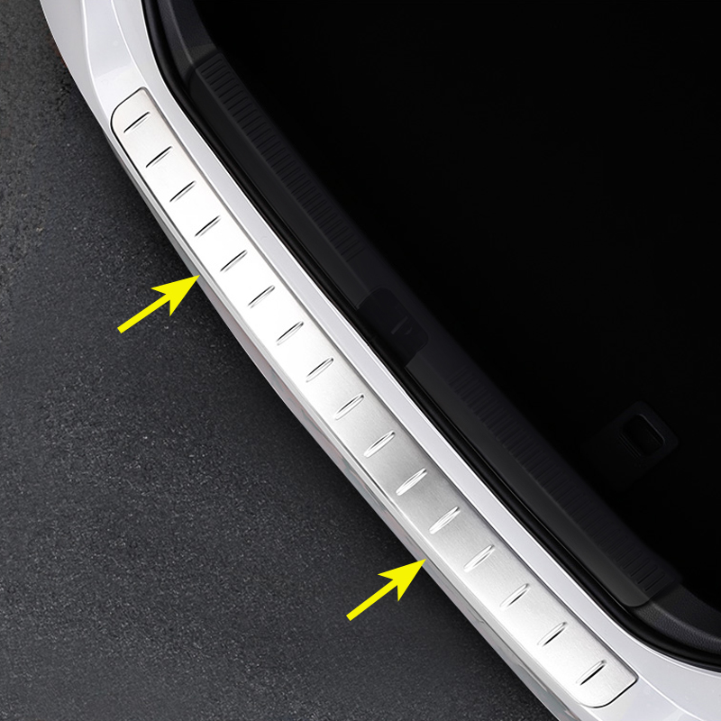 Steel Bumper Protector For Toyota Camry 2018 2019 Trunk Sill Scuff Cover Overlay