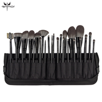 Anmor 29PCS Make Up Brush High Quality Nylon Hair Foundation Eye Shadow Concealer Makeup Brushes Tools With Black Cosmetic Bag